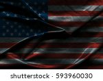 usa flag background | Shutterstock . vector #593960030