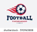 soccer football logo  emblem... | Shutterstock .eps vector #593965808