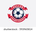 soccer football logo  emblem... | Shutterstock .eps vector #593965814