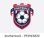 soccer football logo  emblem... | Shutterstock .eps vector #593965820
