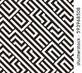 interlacing lines maze lattice. ... | Shutterstock .eps vector #593968508