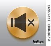 round mute sound button with... | Shutterstock .eps vector #593970068