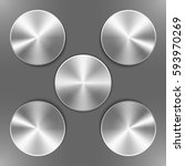 Set Of Round Silver Disks With...