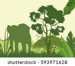 vector illustration of green...
