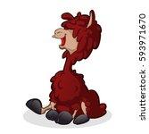 cartoon llama   Shutterstock .eps vector #593971670