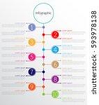 vector infographic templates...   Shutterstock .eps vector #593978138