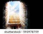 empty tomb   easter... | Shutterstock . vector #593978759