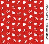 love theme hearts valentine's... | Shutterstock . vector #593984930