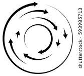 circular concentric arrows.... | Shutterstock .eps vector #593985713