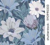 beautiful  bright  gentle ... | Shutterstock .eps vector #593990333