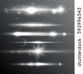 realistic lens flare light... | Shutterstock .eps vector #593996543