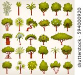 Collection Of Bushes  Trees ...