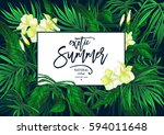 vector summer natural vintage... | Shutterstock .eps vector #594011648