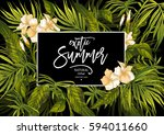 vector summer natural vintage... | Shutterstock .eps vector #594011660