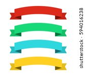 flat ribbons banners. ribbons... | Shutterstock .eps vector #594016238