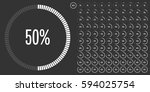 set of circle percentage... | Shutterstock .eps vector #594025754