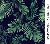 dark tropical background with... | Shutterstock .eps vector #594028460