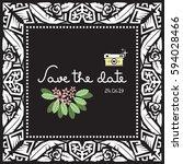 doodle vector pattern ethnic... | Shutterstock .eps vector #594028466