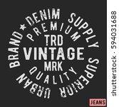 t shirt print design. vintage... | Shutterstock .eps vector #594031688