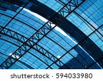 metal framework of the roof of... | Shutterstock . vector #594033980