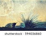 fantasy illustration artwork  ... | Shutterstock . vector #594036860