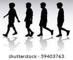 drawing boy in motion.... | Shutterstock . vector #59403763