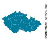 czech republic blue map vector | Shutterstock .eps vector #594043700