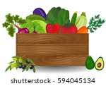 healthy freshly harvested... | Shutterstock . vector #594045134