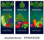 healthy vegetables and... | Shutterstock . vector #594045428