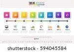 timeline infographics design... | Shutterstock .eps vector #594045584