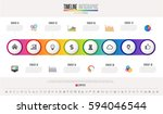 timeline infographics design... | Shutterstock .eps vector #594046544