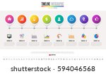timeline infographics design... | Shutterstock .eps vector #594046568