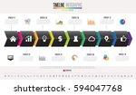 timeline infographics design... | Shutterstock .eps vector #594047768