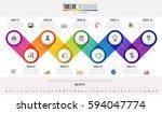 timeline infographics design... | Shutterstock .eps vector #594047774