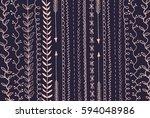 doodles border  decor elements... | Shutterstock .eps vector #594048986