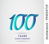 one hundred years anniversary... | Shutterstock .eps vector #594054719