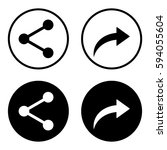 share icon in a circle set ...   Shutterstock .eps vector #594055604