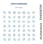 vector graphic set. icons in... | Shutterstock .eps vector #594058709