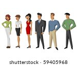 group of people | Shutterstock .eps vector #59405968