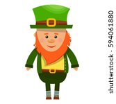 irish leprechaun icon | Shutterstock .eps vector #594061880