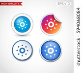 colored icon or button of...   Shutterstock .eps vector #594068084