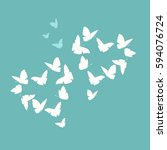 heart of butterflies valentine... | Shutterstock .eps vector #594076724
