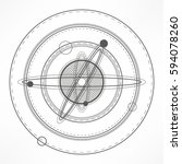 universe.solar system. sacred... | Shutterstock .eps vector #594078260