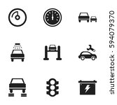 set of 9 editable traffic icons....