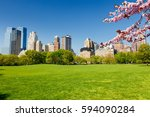 Central Park At Spring Sunny...