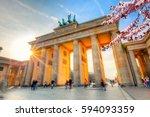 Brandenburg Gate At Spring ...