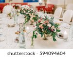 beautiful wedding table...   Shutterstock . vector #594094604