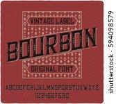 vintage label typeface named ...   Shutterstock .eps vector #594098579