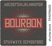 vintage label typeface named ... | Shutterstock .eps vector #594098600