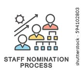 icon staff nomination process.... | Shutterstock .eps vector #594102803